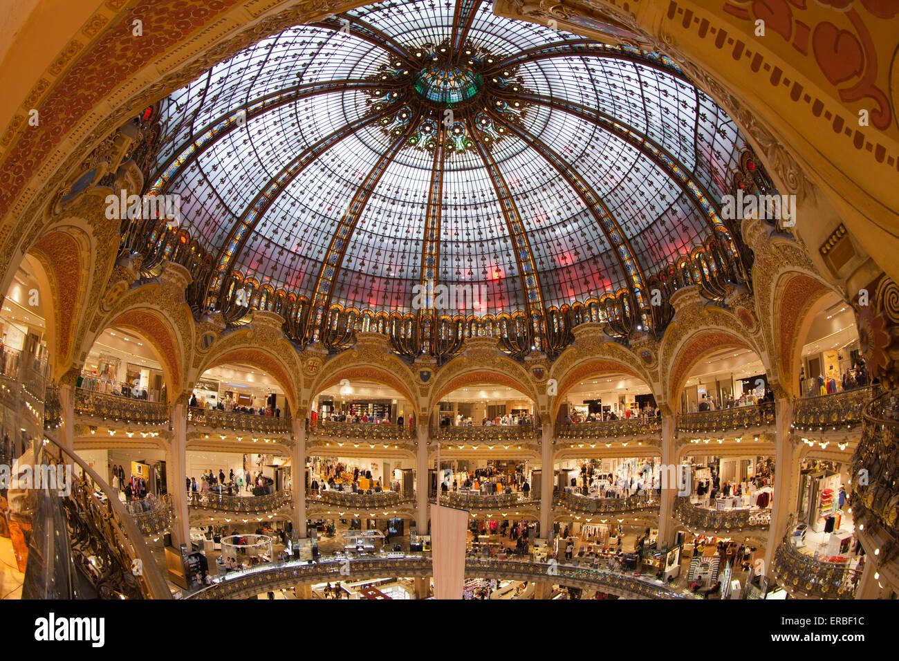 The Galeries Lafayette, Paris, France. - Stock Image