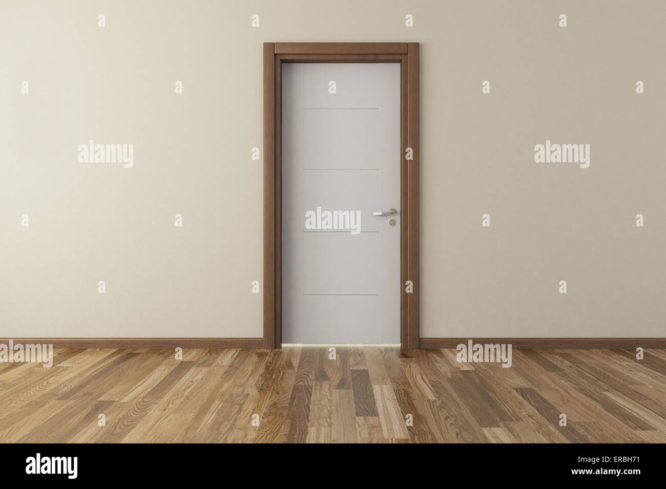 lacquer door with wall and parquet 3d model rendering & lacquer door with wall and parquet 3d model rendering Stock Photo ...