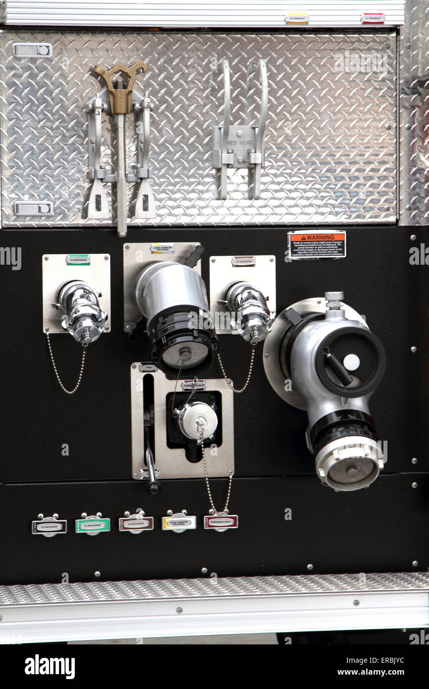 Firetruck connections - Stock Image