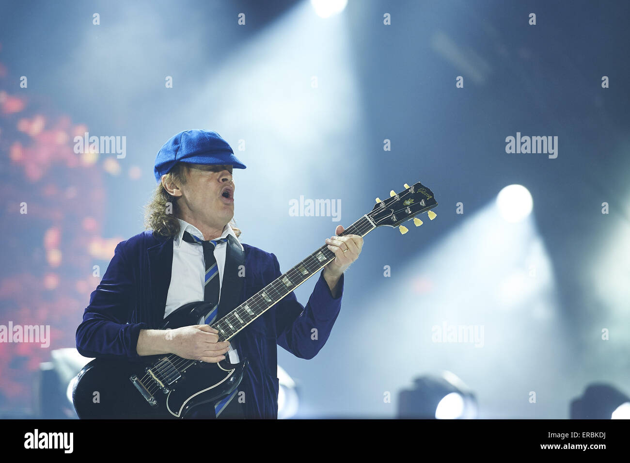 Madrid, Spain. 31st May, 2015. Angus Young of AC DC perform on stage ...