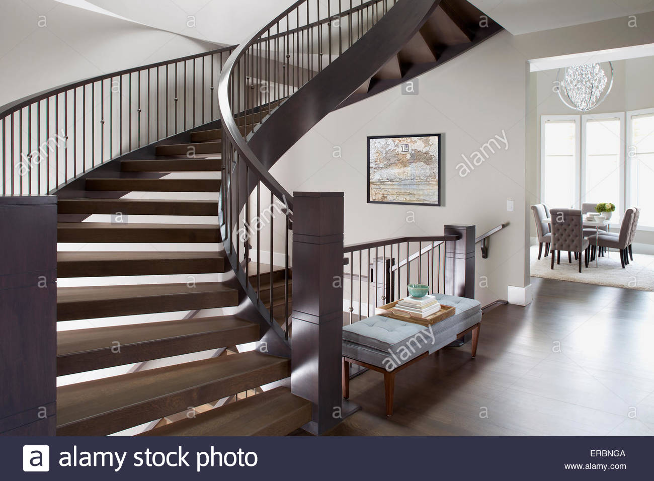 Spiral stock photos spiral stock images alamy for Spiral staircase house