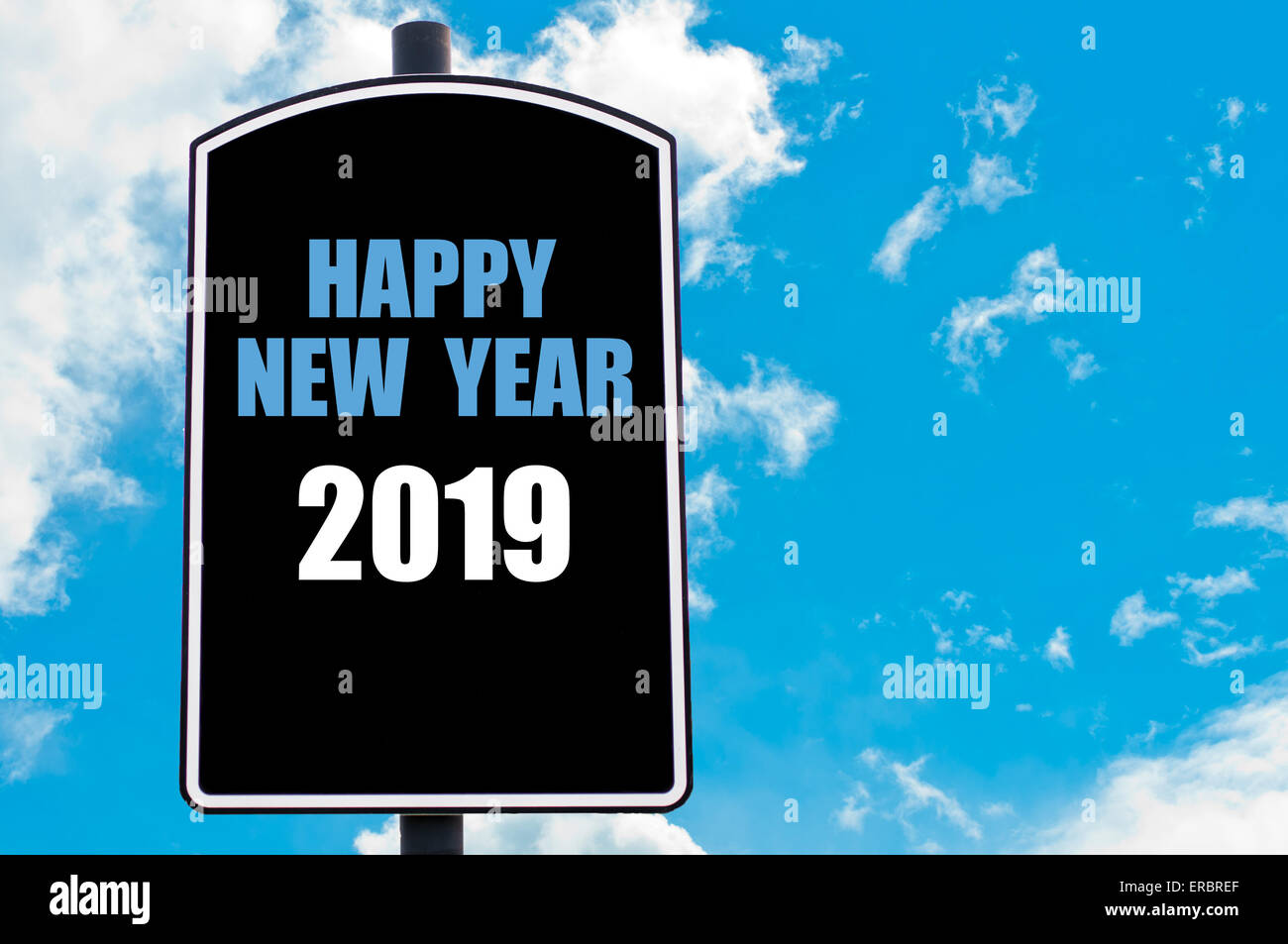 happy new year motivational quote written on road sign