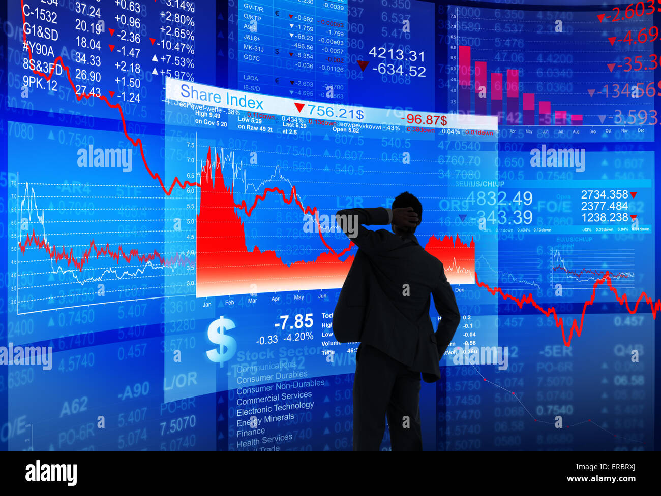 Financial Crisis - Stock Image