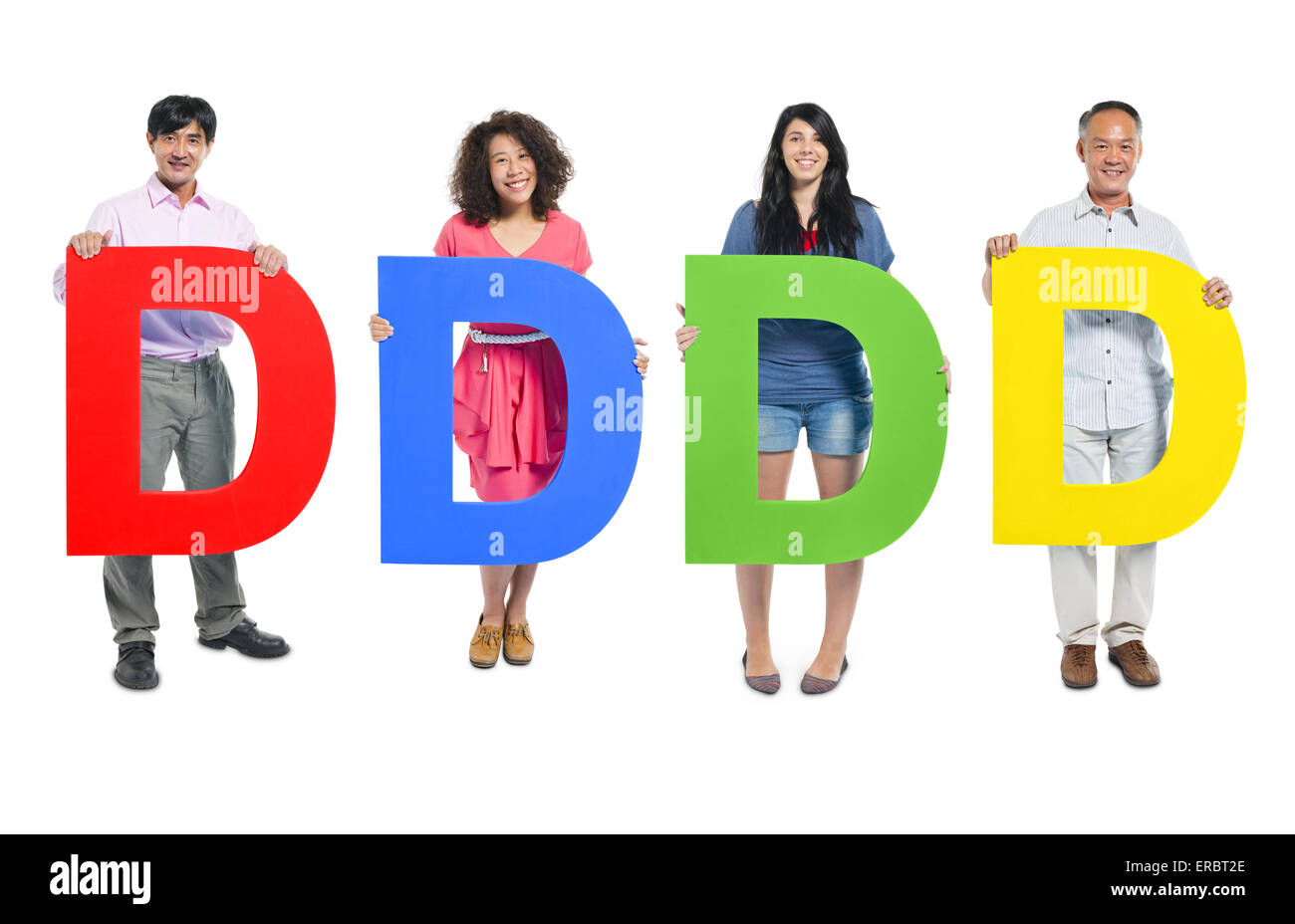 Group of Business people holding the letter 'D' - Stock Image