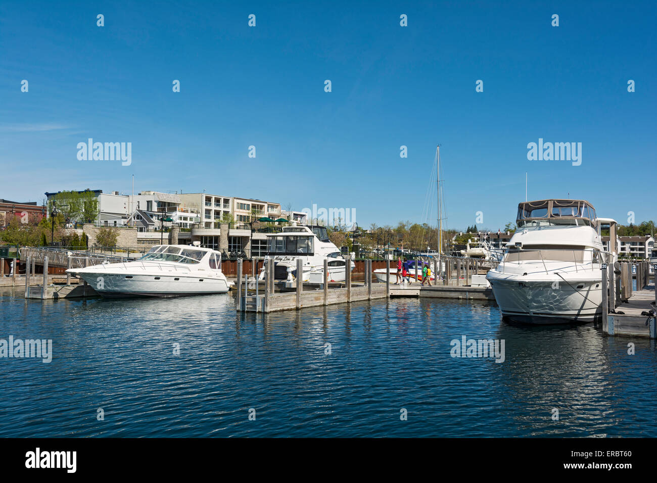 Michigan, Charlevoix, City Marina - Stock Image