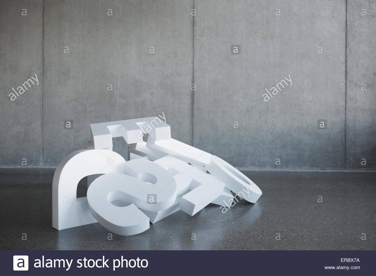 Fallen letters in a heap - Stock Image