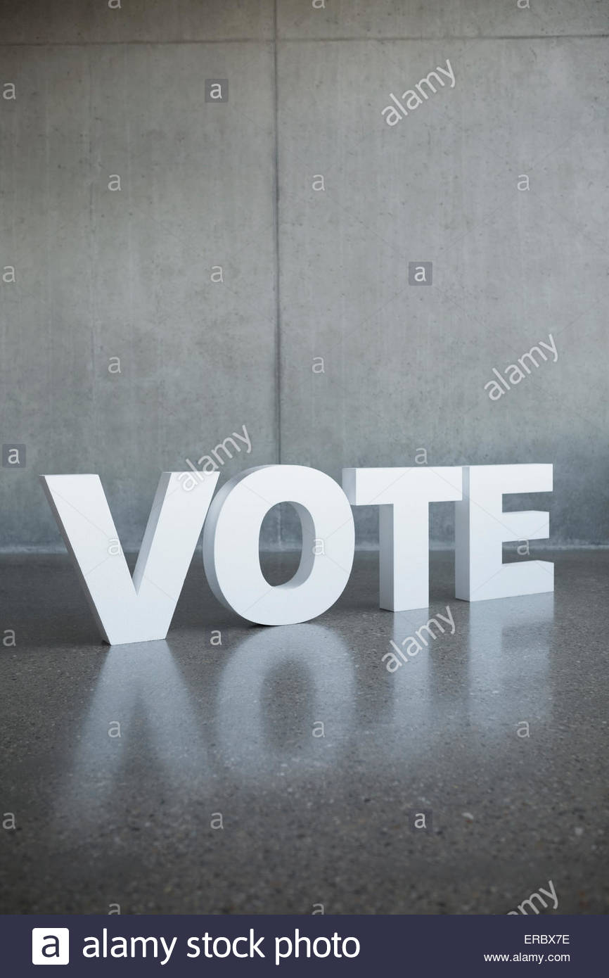 'Vote' letter - Stock Image