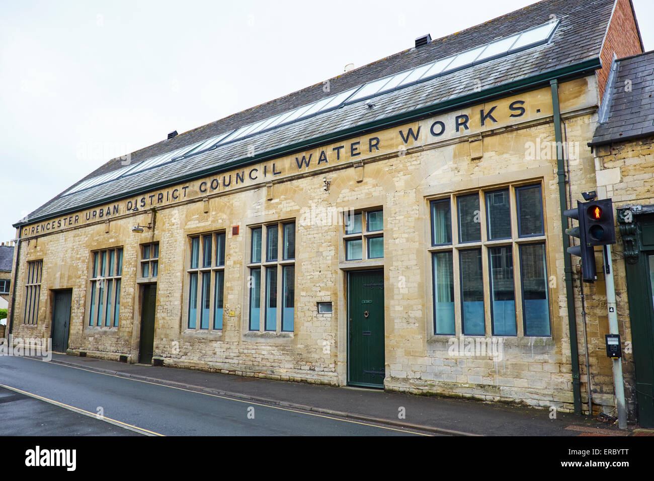 Former Urban District Council Water Works Lewis Lane Cirencester Gloucestershire UK - Stock Image