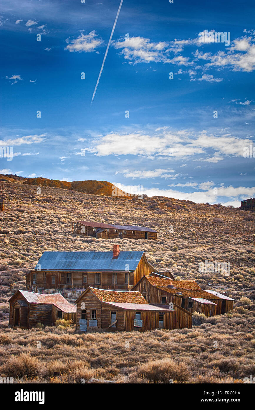 A HDR photograph of a building in Bodie, California. - Stock Image