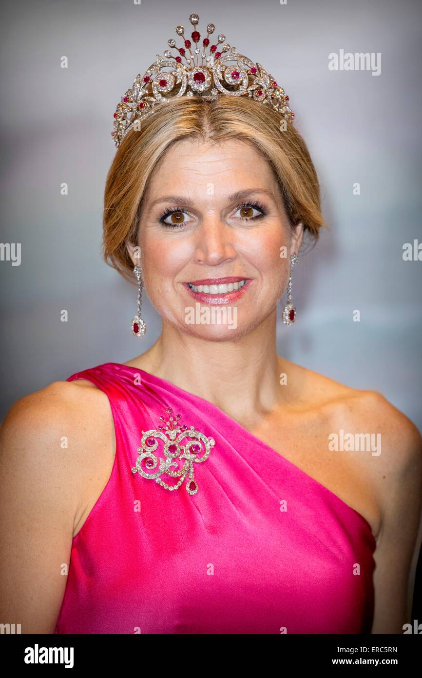 Queen Maxima poses for an official picture before the state ...