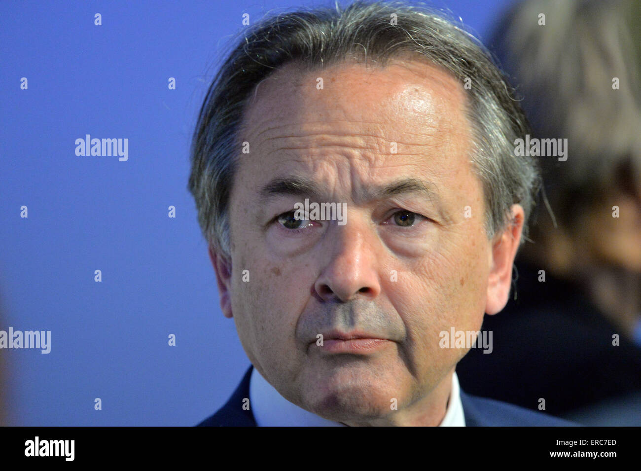 Prague, Czech Republic. 30th May, 2015. French political scientist Gilles Kepel pictured during his interview with - Stock Image