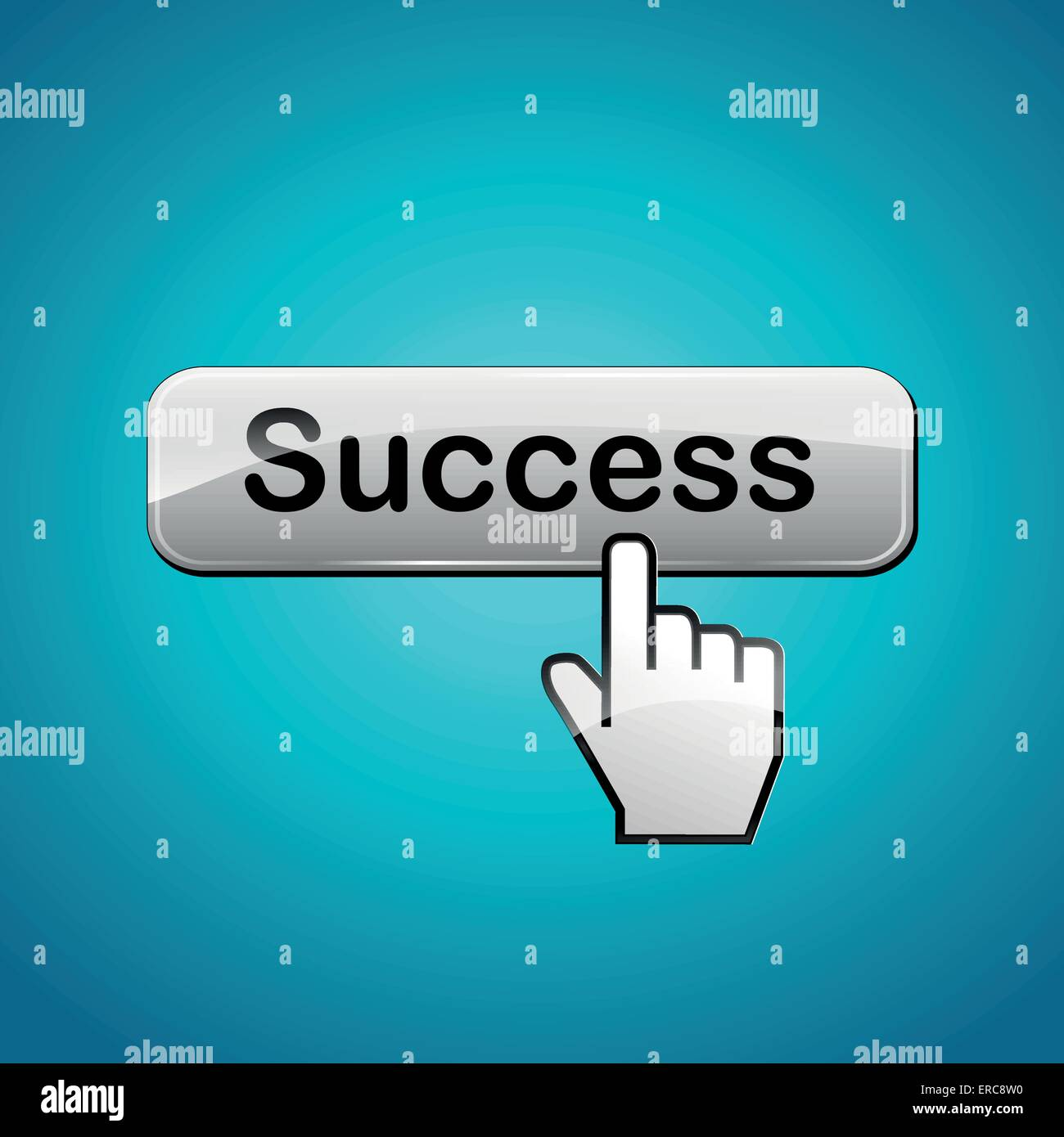 Vector illustration of success abstract concept background - Stock Image
