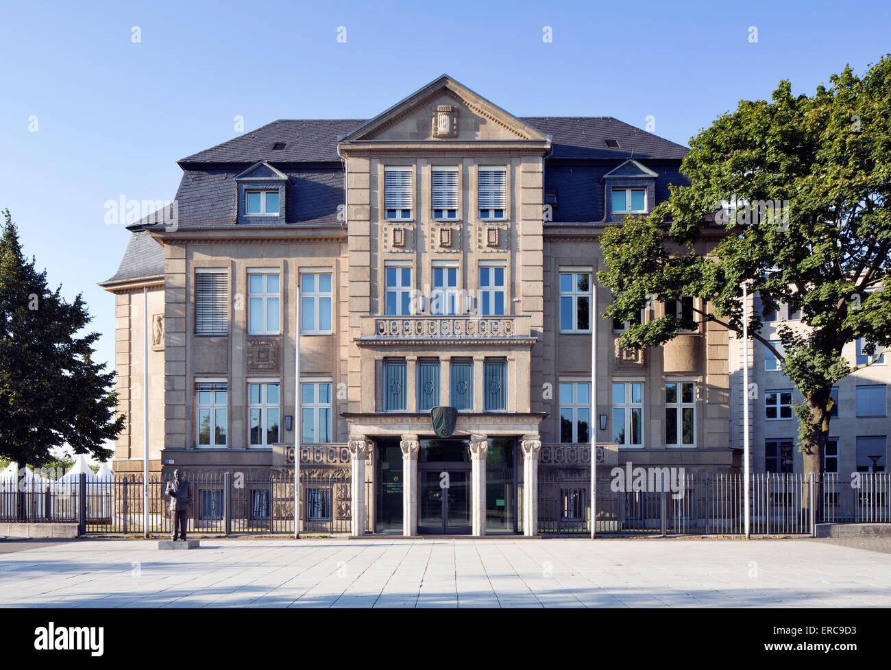 Villa Horion, former state chancellery, ministerial building, Düsseldorf, Rhineland, North Rhine-Westphalia, - Stock Image