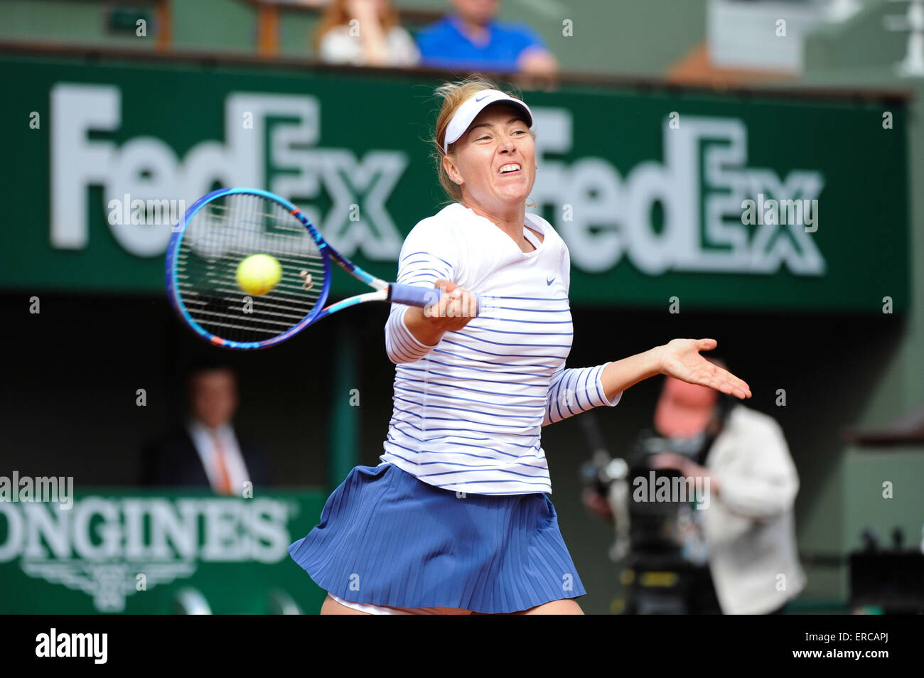 Maria SHARAPOVA - 25.05.2015 - Jour 2 - Roland Garros 2015.Photo : Nolwenn Le Gouic/Icon Sport/CSM - Stock Image