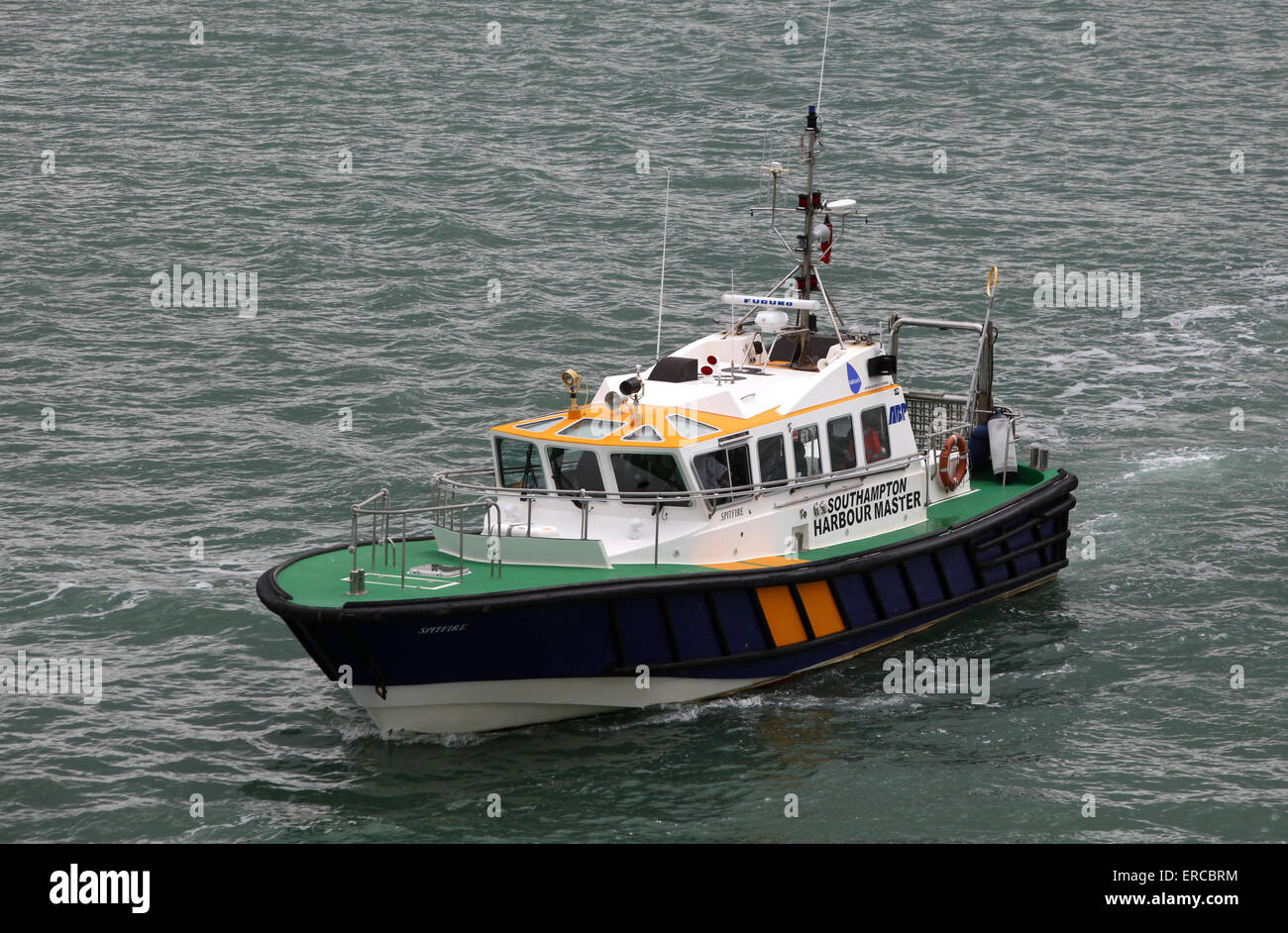Southampton Harbour Master boat in Southampton Waters - Stock Image