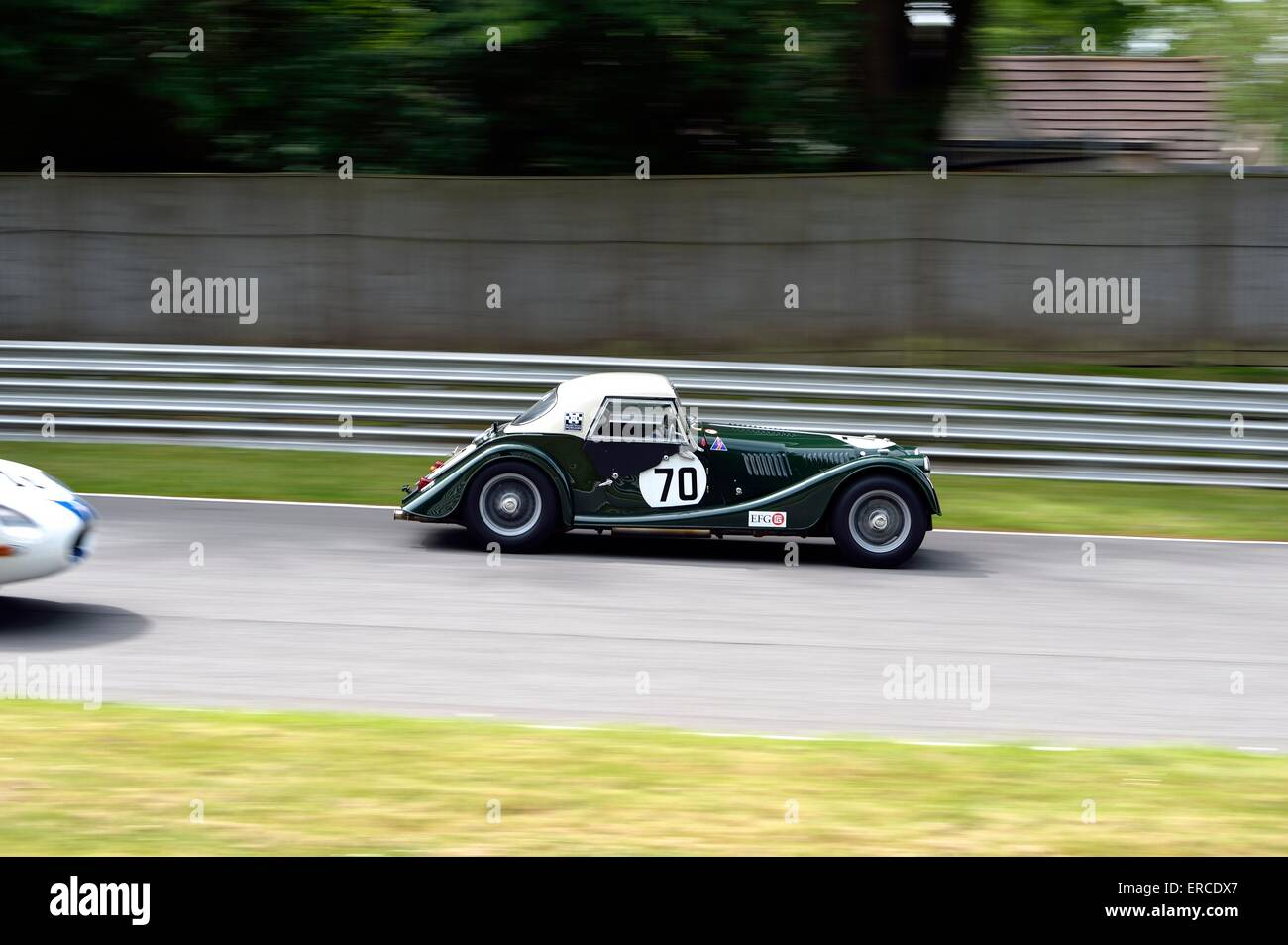 Brands Hatch Historic masters classic  car auto racing - Stock Image