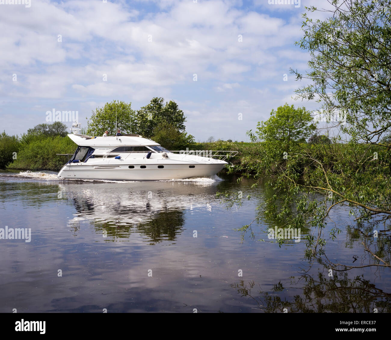 A Bank Holiday weekend cruising on the river Ouse, City of York, Yorkshire, England, UK - Stock Image