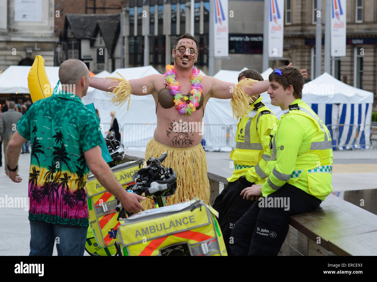 Stag party, Nottingham, England. - Stock Image