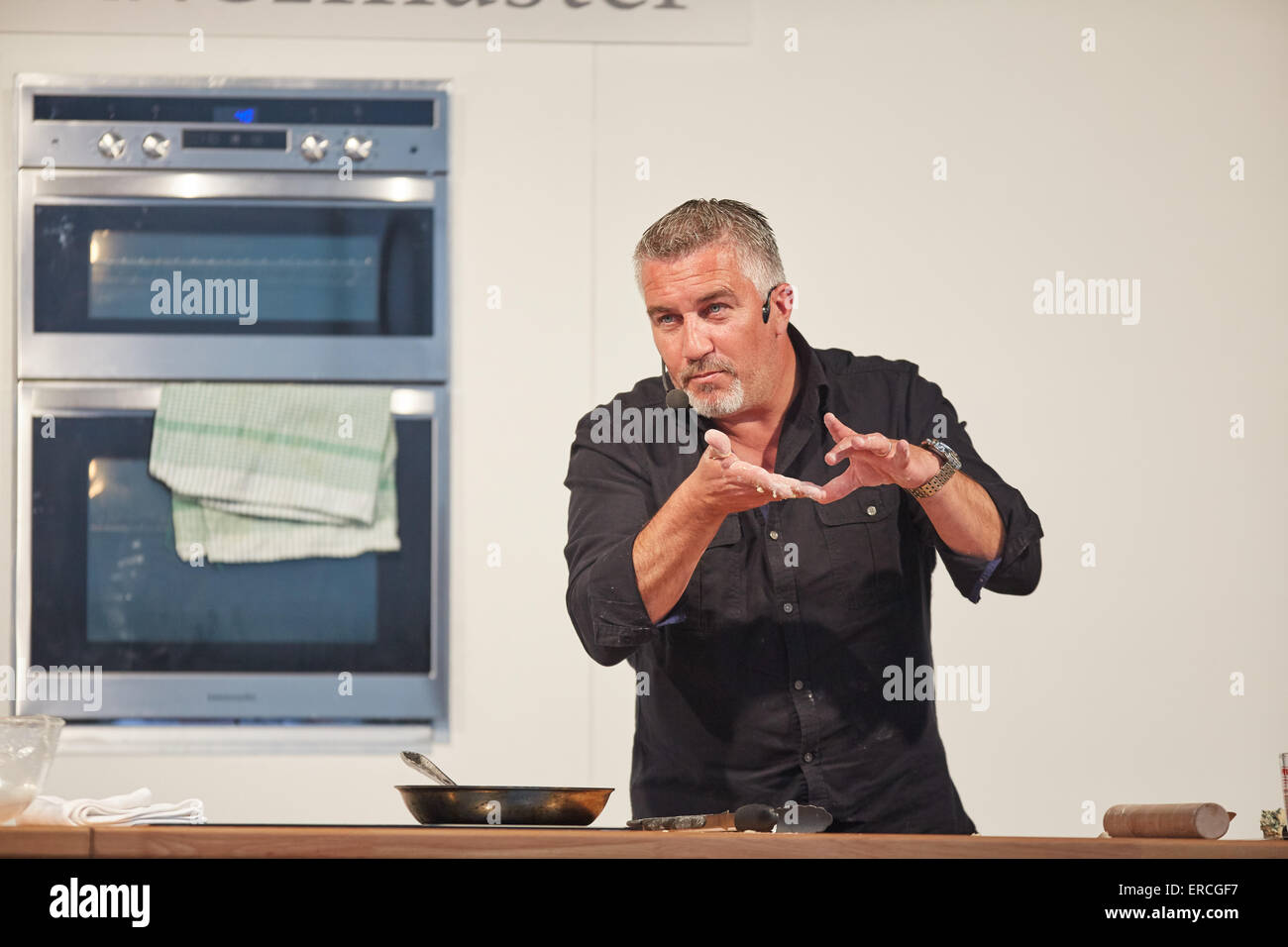 TV baker Paul Hollywood at Salford Quays for the Lowry Outlet Food Festival.   Celebrity famous famed public figure - Stock Image