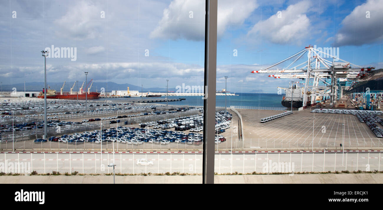 newly built harbour of Tunis, Tunesia - Stock Image