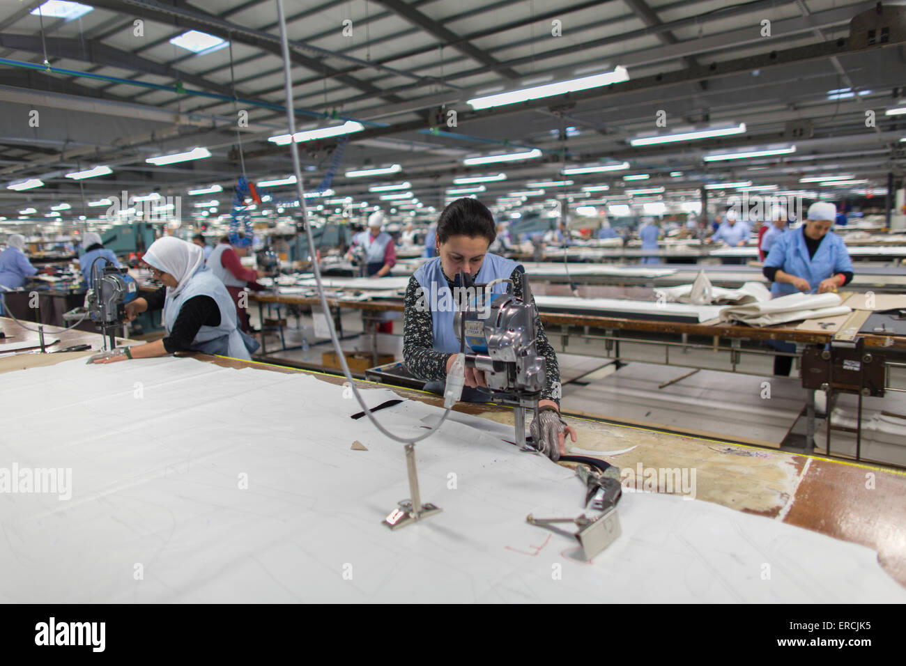 Clothing factory THE MAKERS in Morocco produces clothes for the Dutch retails business - Stock Image