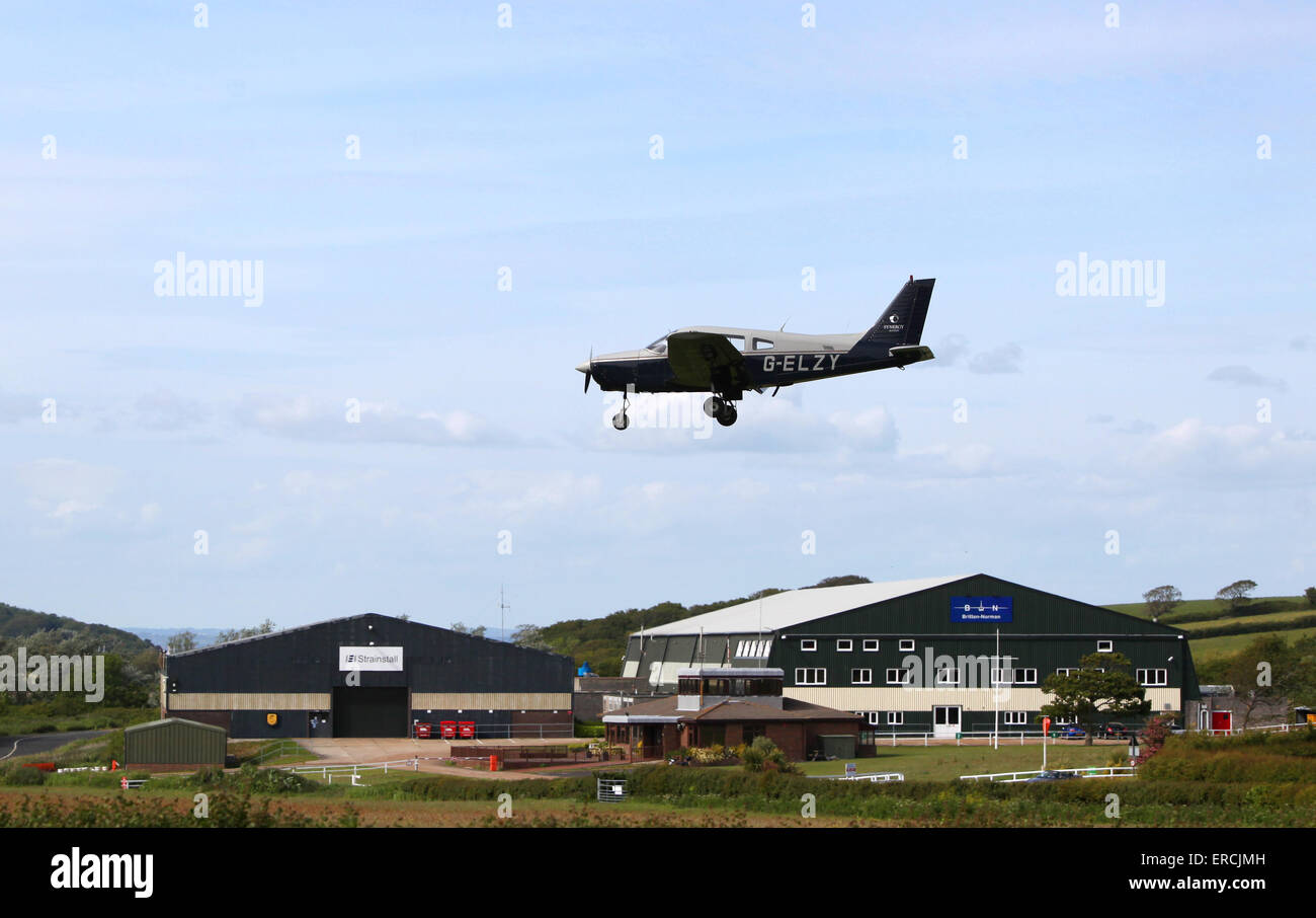Bembridge Airport on the Isle of Wight - Stock Image