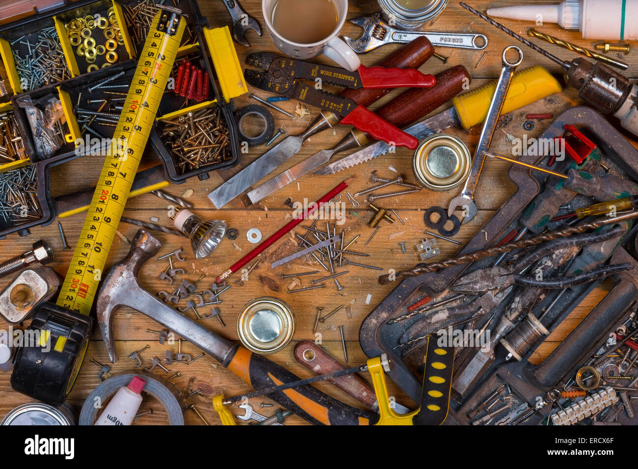 Remarkable Home Maintenance An Untidy Workbench Full Of Dusty Old Squirreltailoven Fun Painted Chair Ideas Images Squirreltailovenorg