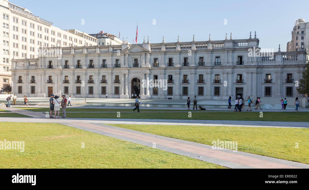 Palacio de La Moneda (Coin Palace), Santiago, Chile - Stock Image