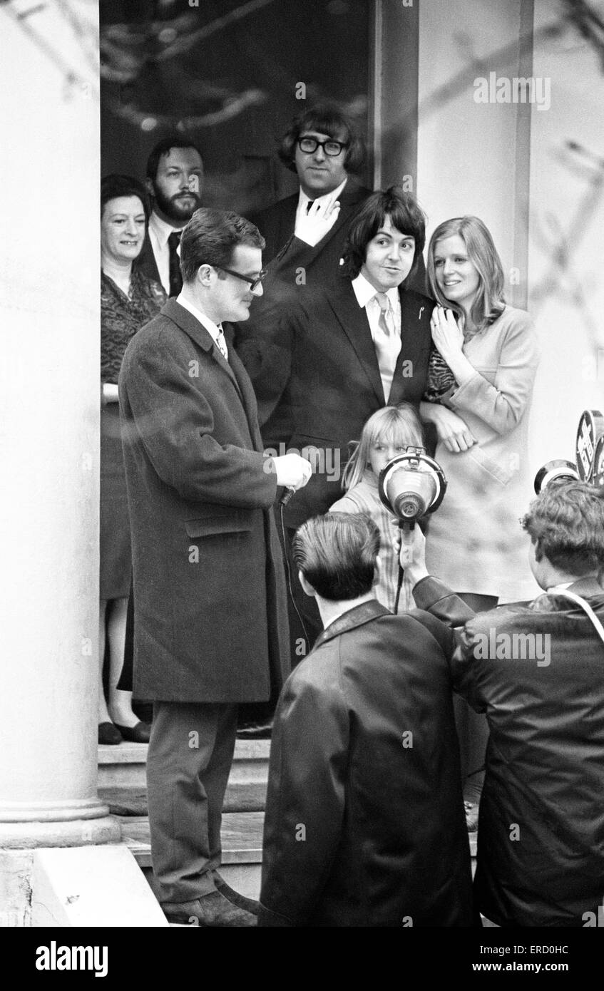 Civil Wedding Of Paul McCartney Linda Eastman Marylebone Register
