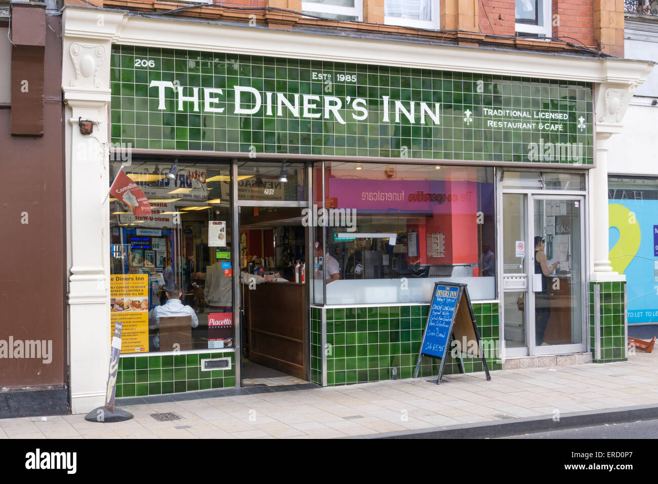 The Diner's Inn in Bromley High Street, South London. - Stock Image