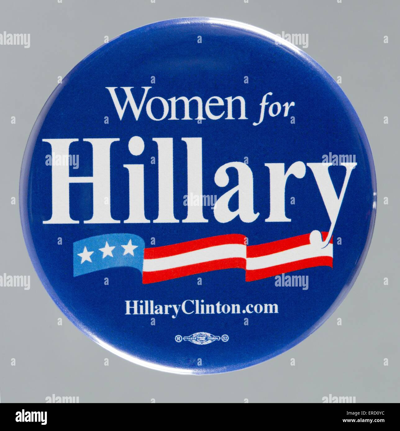A 2008 Hillary Rodham Clinton United States presidential primary campaign button pin - Stock Image