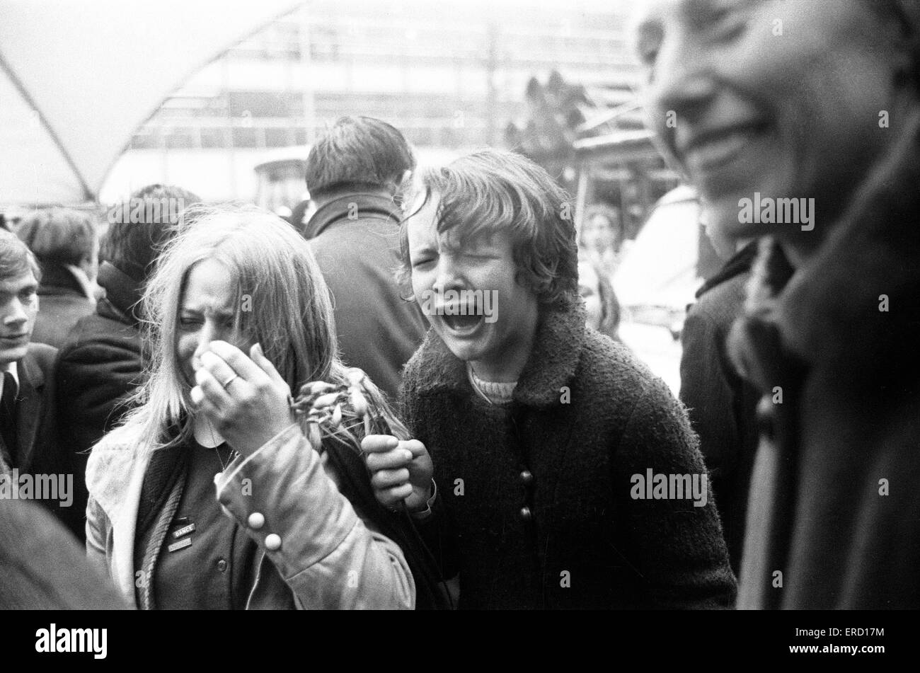 Civil Wedding of Paul McCartney & Linda Eastman, Marylebone Register Office, London, 12th March 1969. Stock Photo