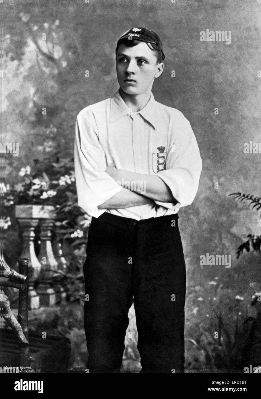 Steve Bloomer, Derby County and England footballer. Pictured circa 1905. - Stock Image