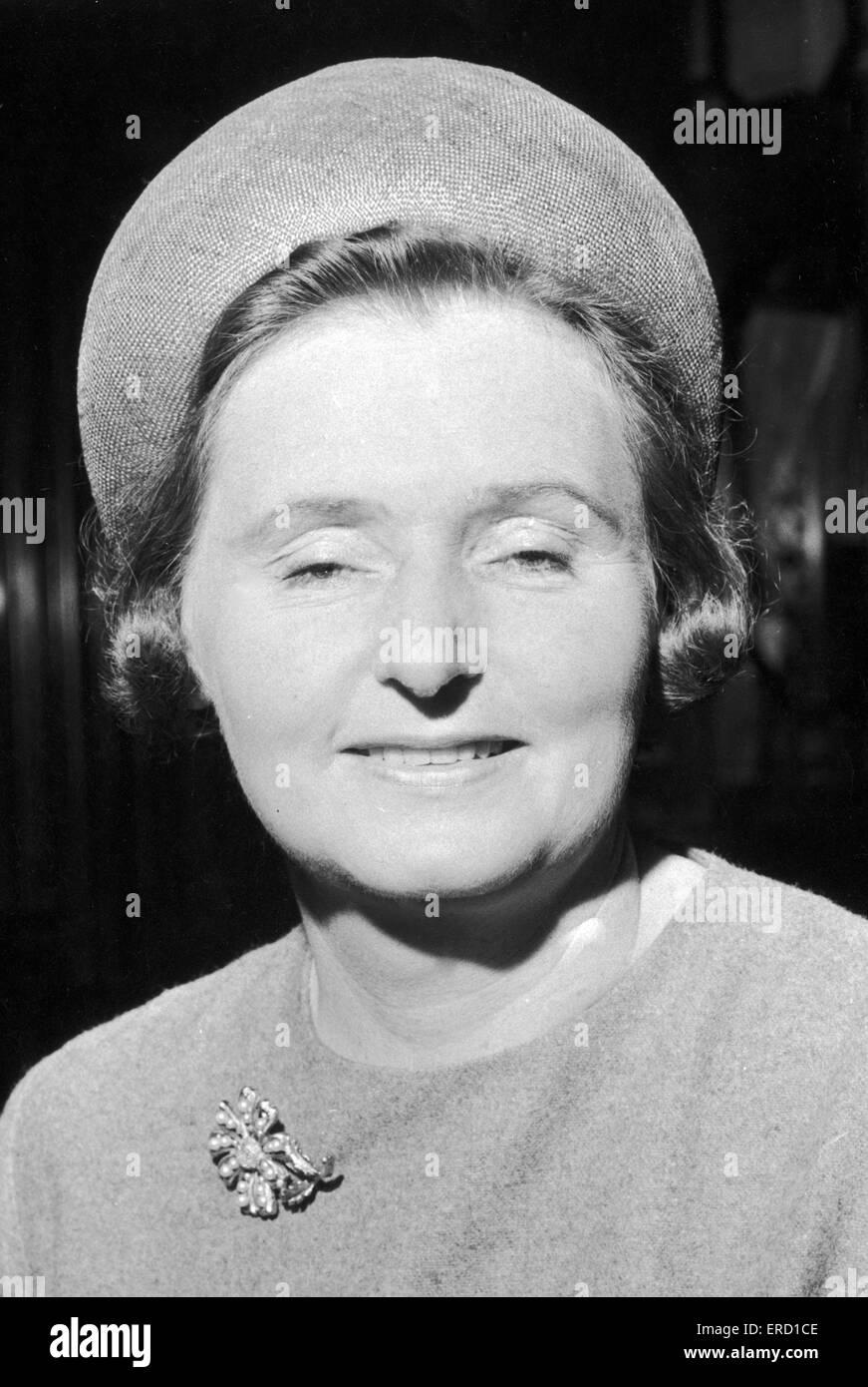 Mrs Jane Mallard, councillor. 7th may 1964 - Stock Image
