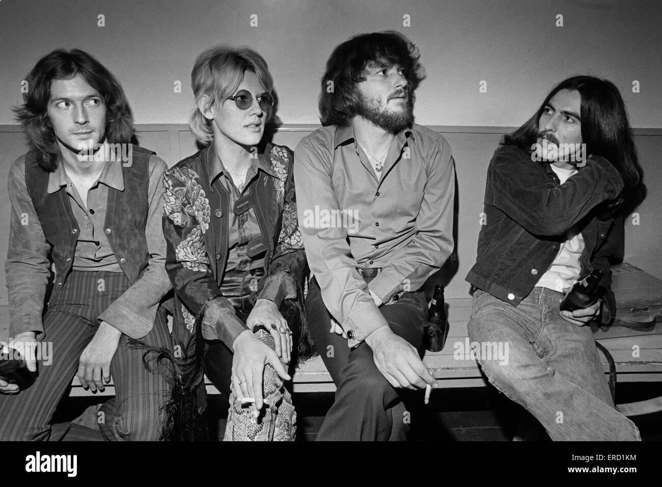 Delaney & Bonnie & Friends concert, Birmingham Town Hall, Thursday 4th December 1969. Pictured backstage: - Stock Image