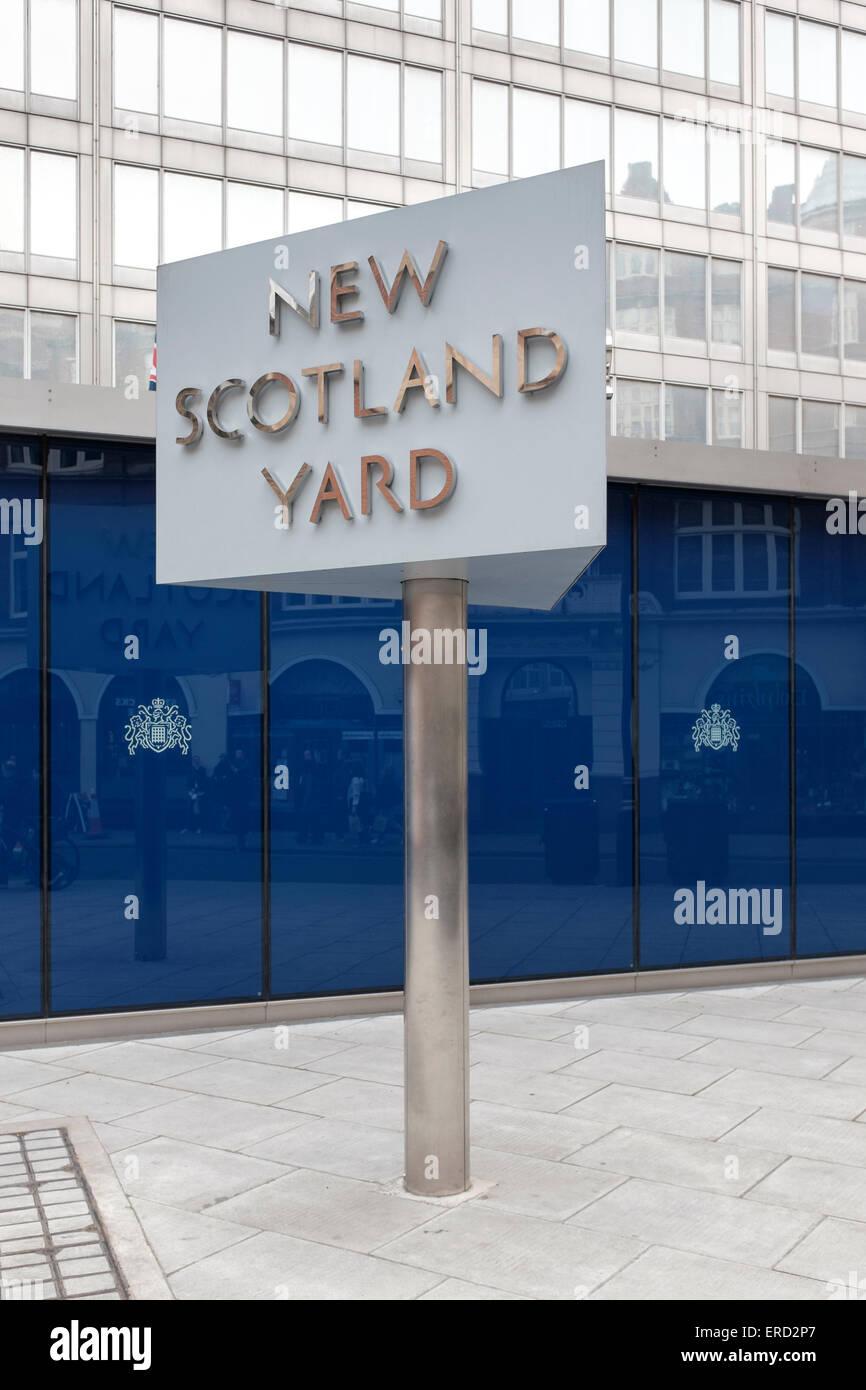 New Scotland Yard,Metropolitan Police Headquarters,Broadway,London,UK - Stock Image
