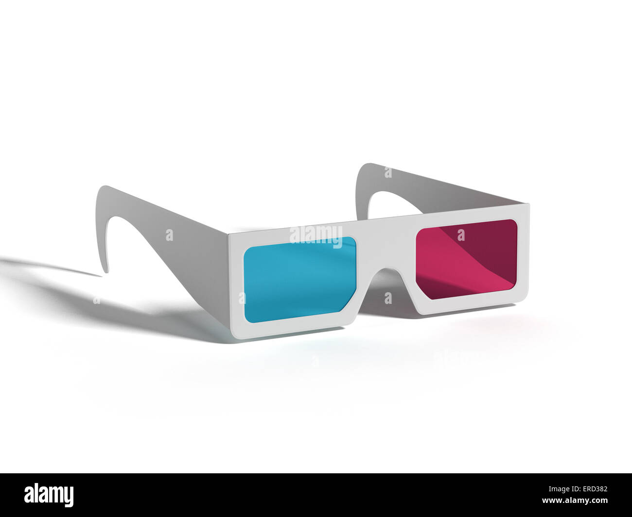 3-D Glasses isolated on white background - Stock Image