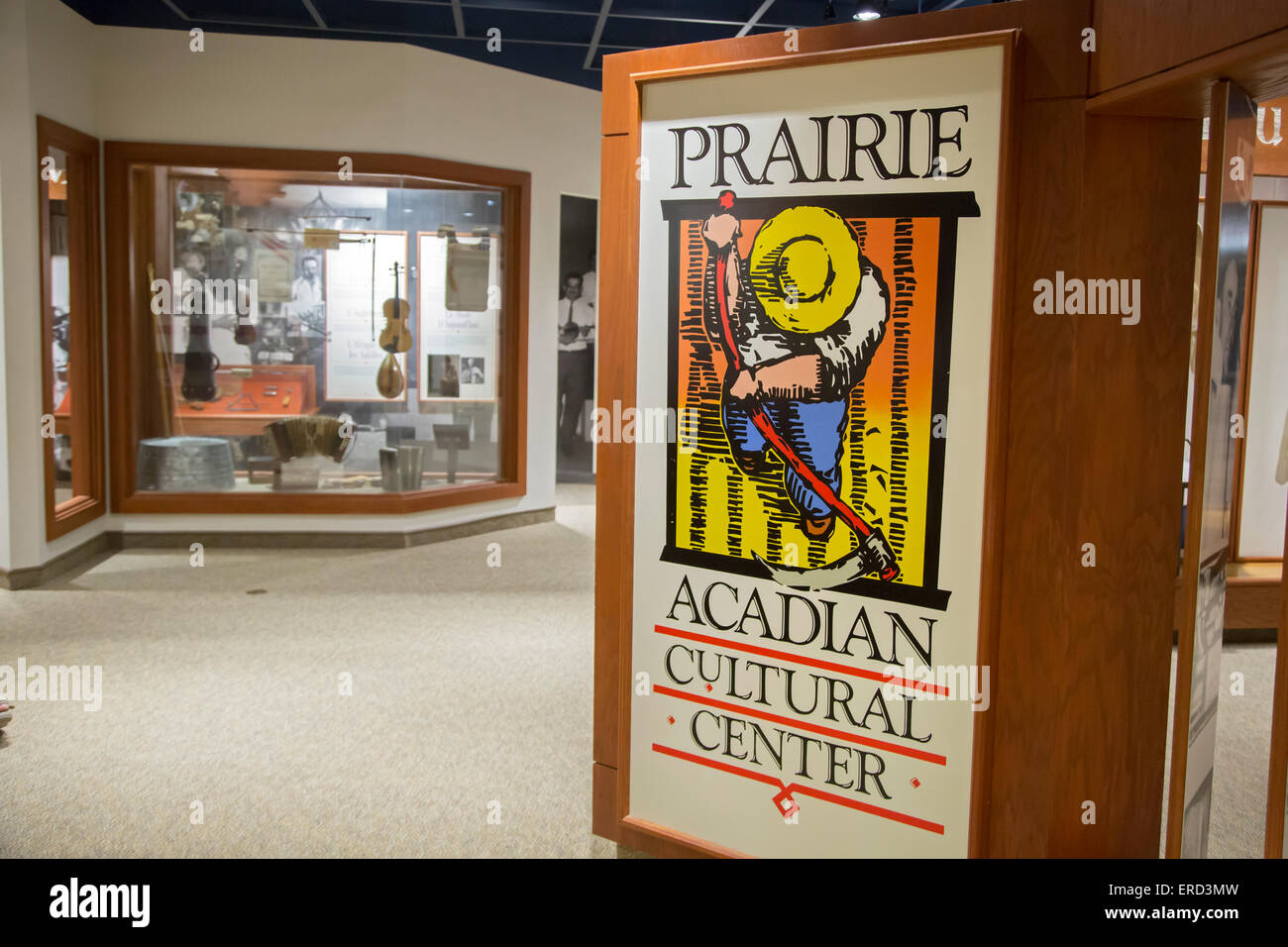 Eunice, Louisiana - The National Park Service's Prairie Acadian Cultural Center, a unit of Jean Lafitte National - Stock Image
