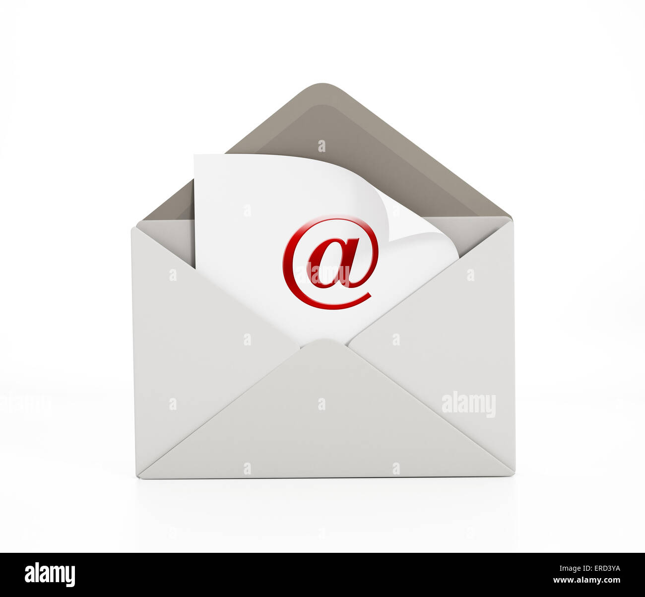 Enveloppe with e-mail icon isolated on white. - Stock Image