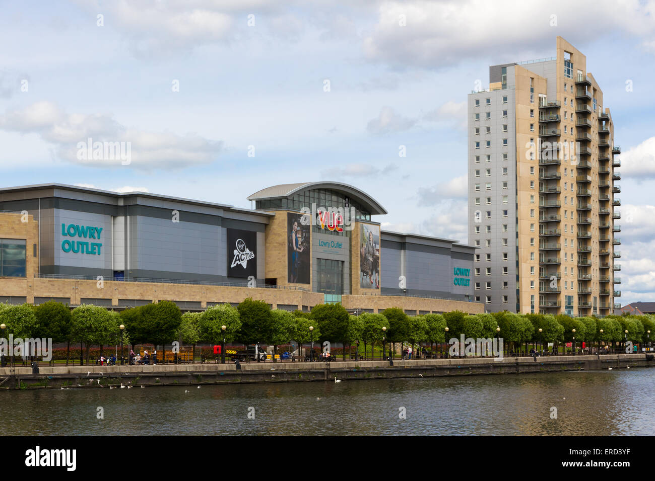 The Lowry Outlet SHopping Centre in Salford Quays, Manchester. Stock Photo