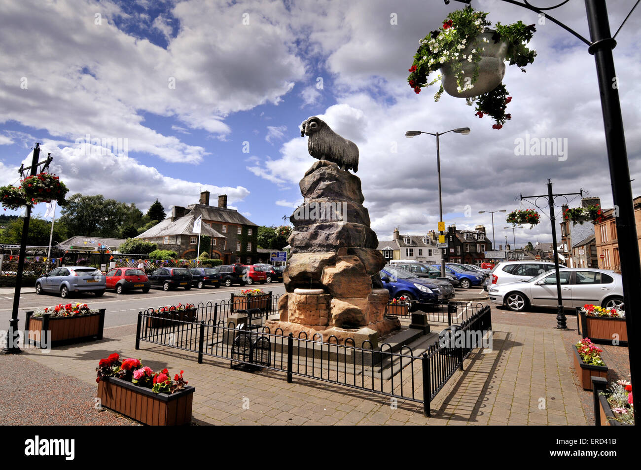 The Moffat Ram in Moffat town Centre, Dumfries and Galloway, Scotland - Stock Image