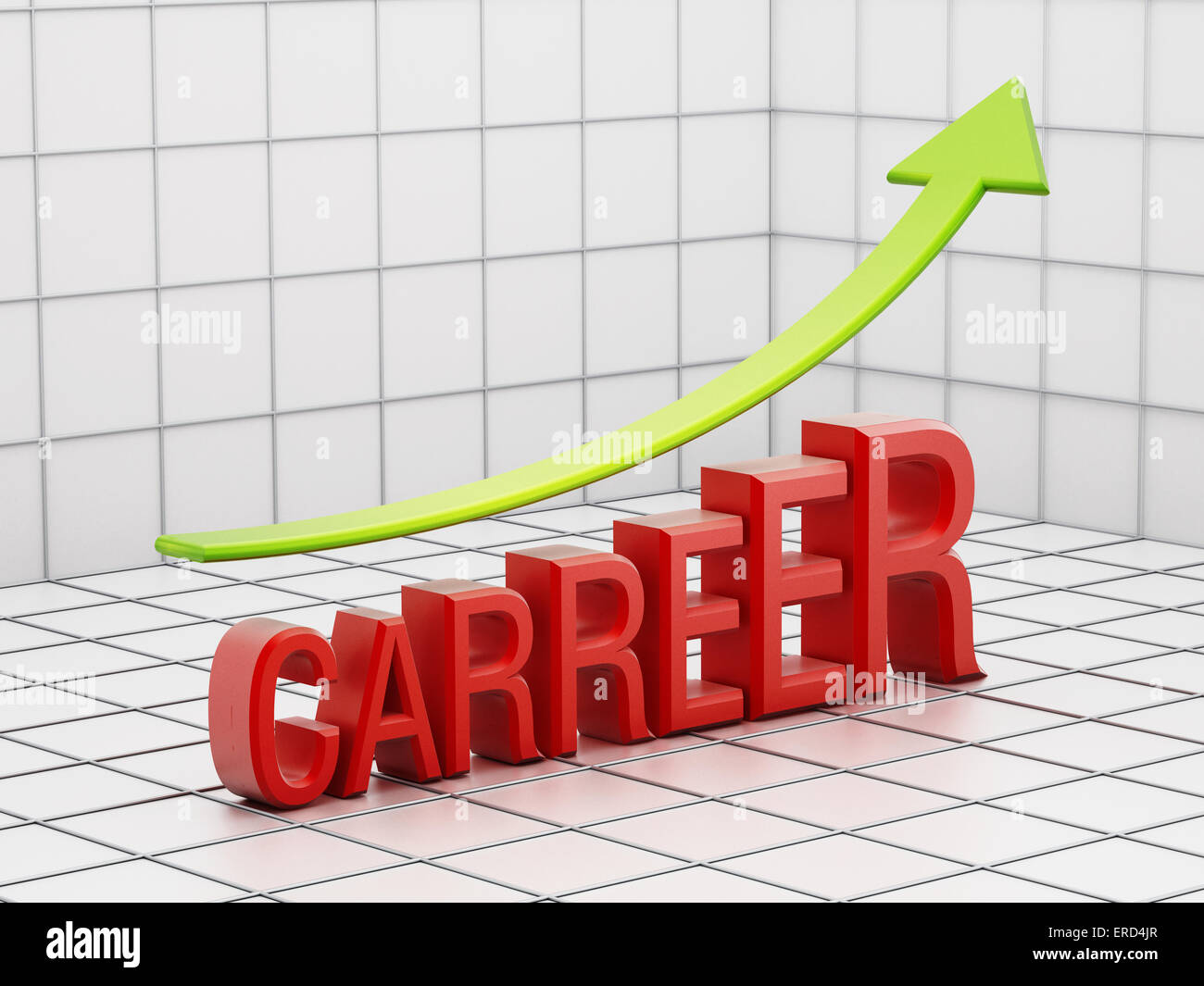 Rising carreer success concept with arrow. - Stock Image