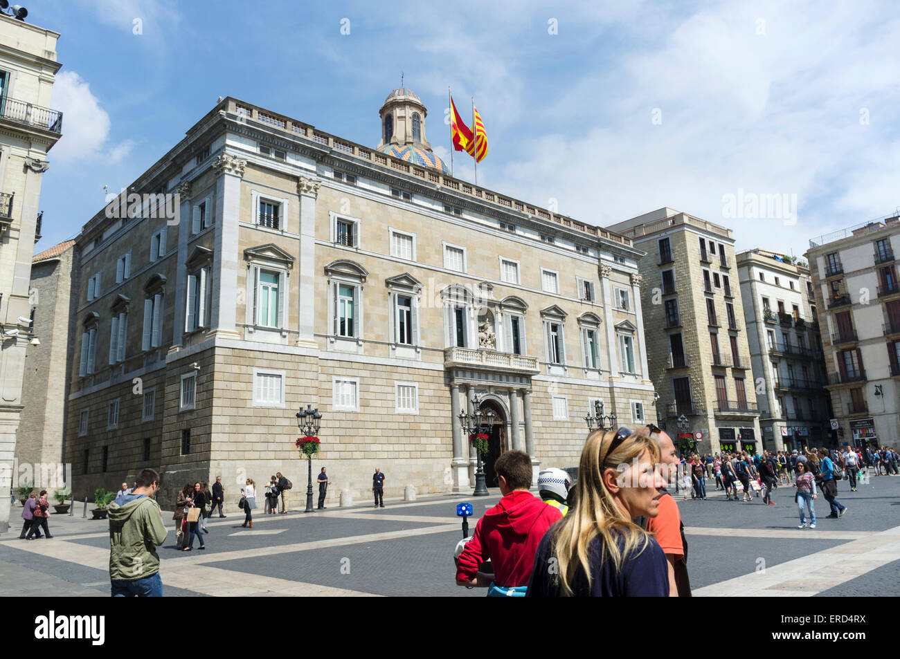 Palau de la Generalitat, Plaça de Sant Jaume, Barcelona, Spain - Stock Image