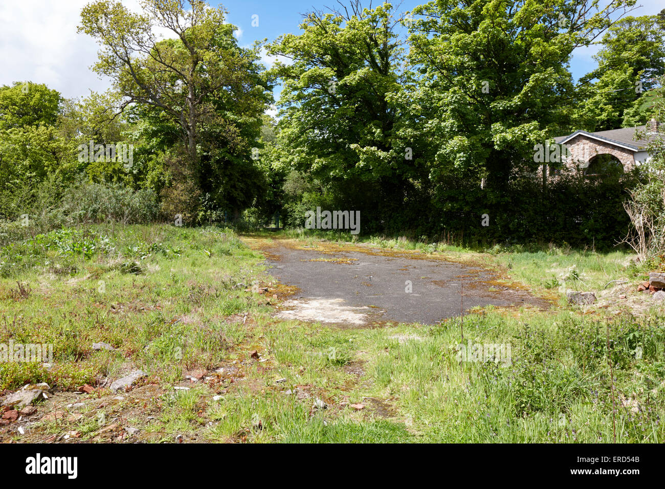 empty unused former house site in rural location Cushendall County Antrim Northern Ireland UK - Stock Image