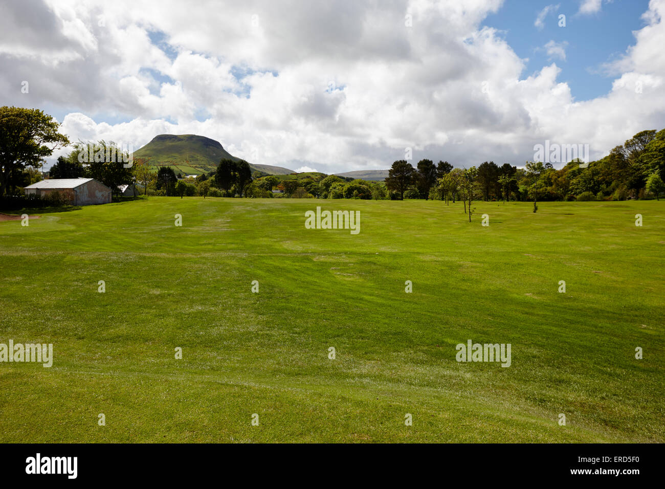 fairway at Cushendall golf course County Antrim Northern Ireland UK - Stock Image