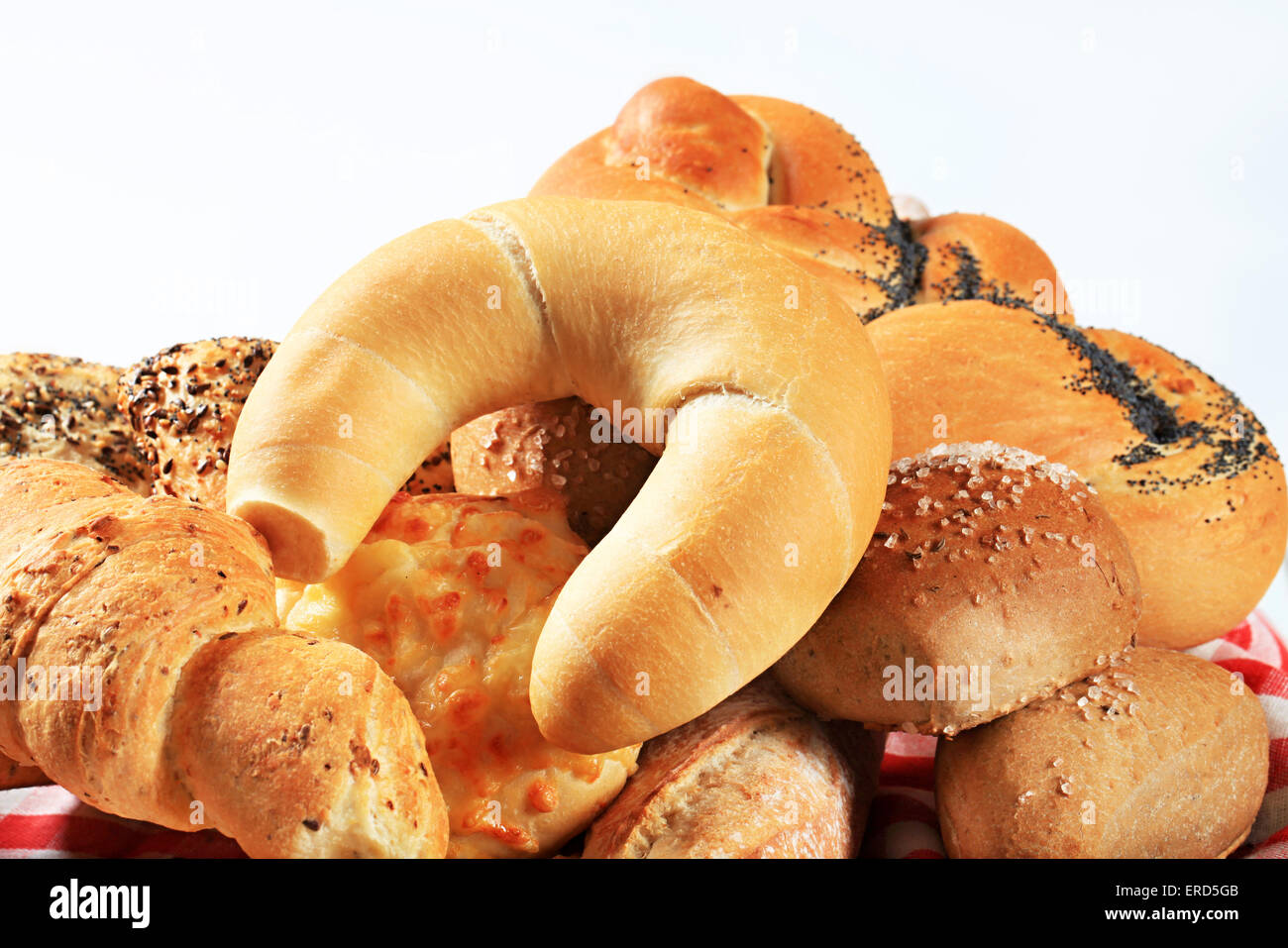 Various Types Of Bread Rolls And Buns