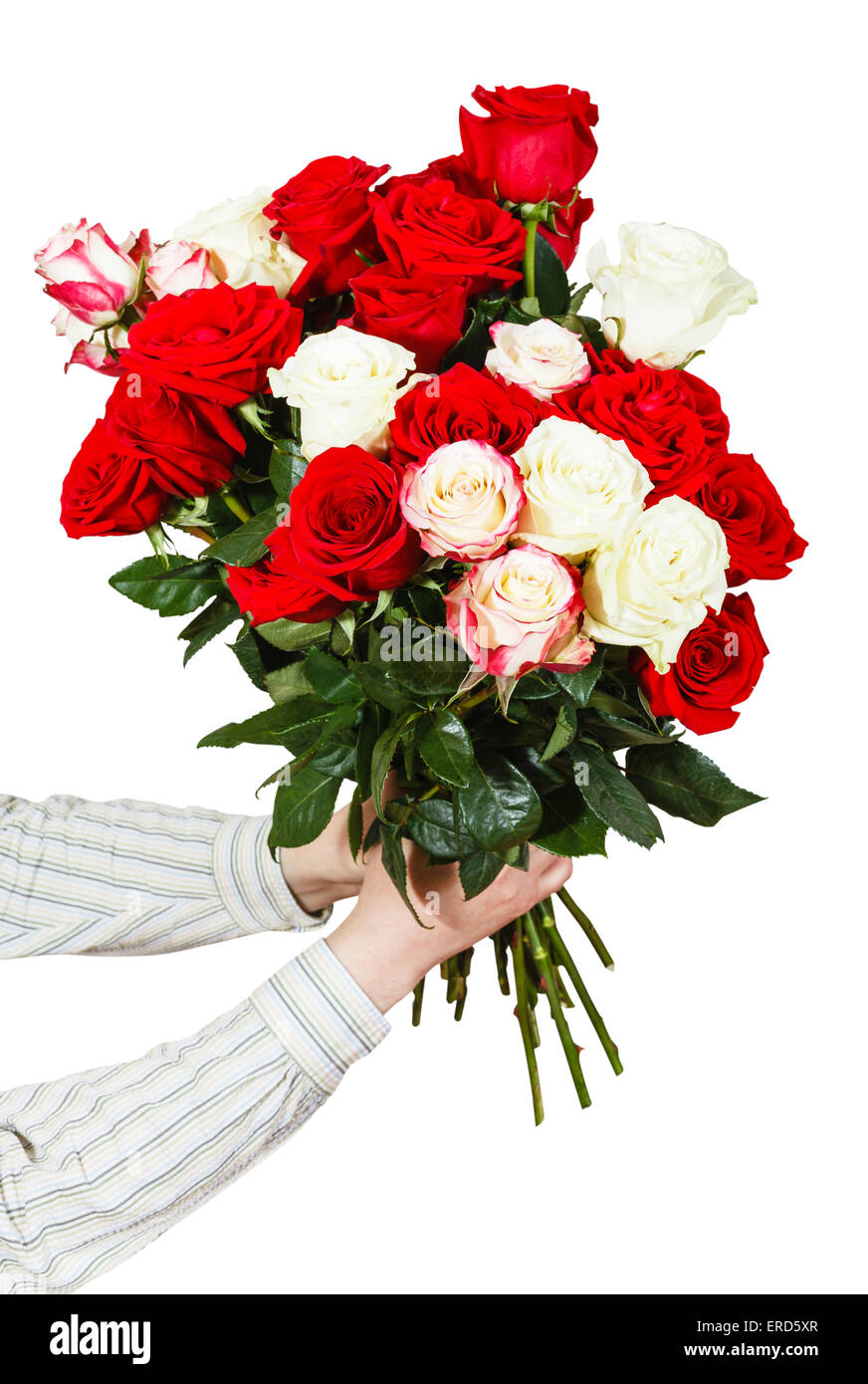 Bouquet Flowers Hands Giving Stock Photos & Bouquet Flowers Hands ...