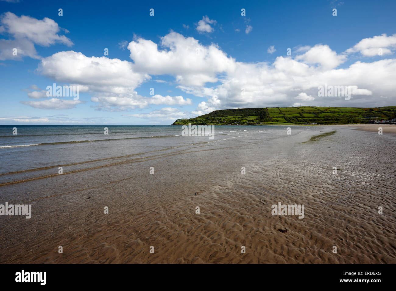 Carnlough beach County Antrim Northern Ireland UK - Stock Image