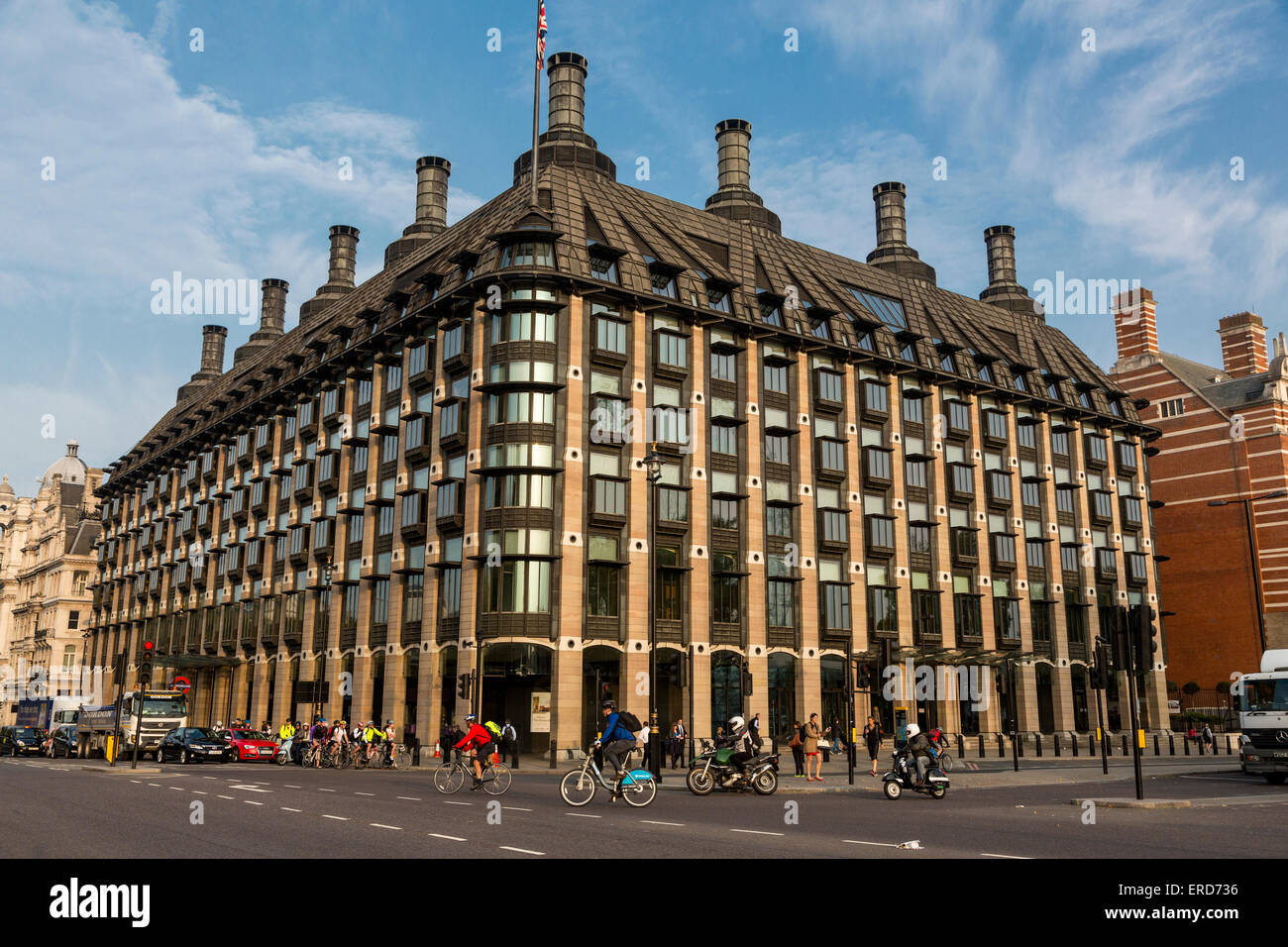UK, England, London.  Portcullis House, Parliament Offices and Committee Rooms. - Stock Image