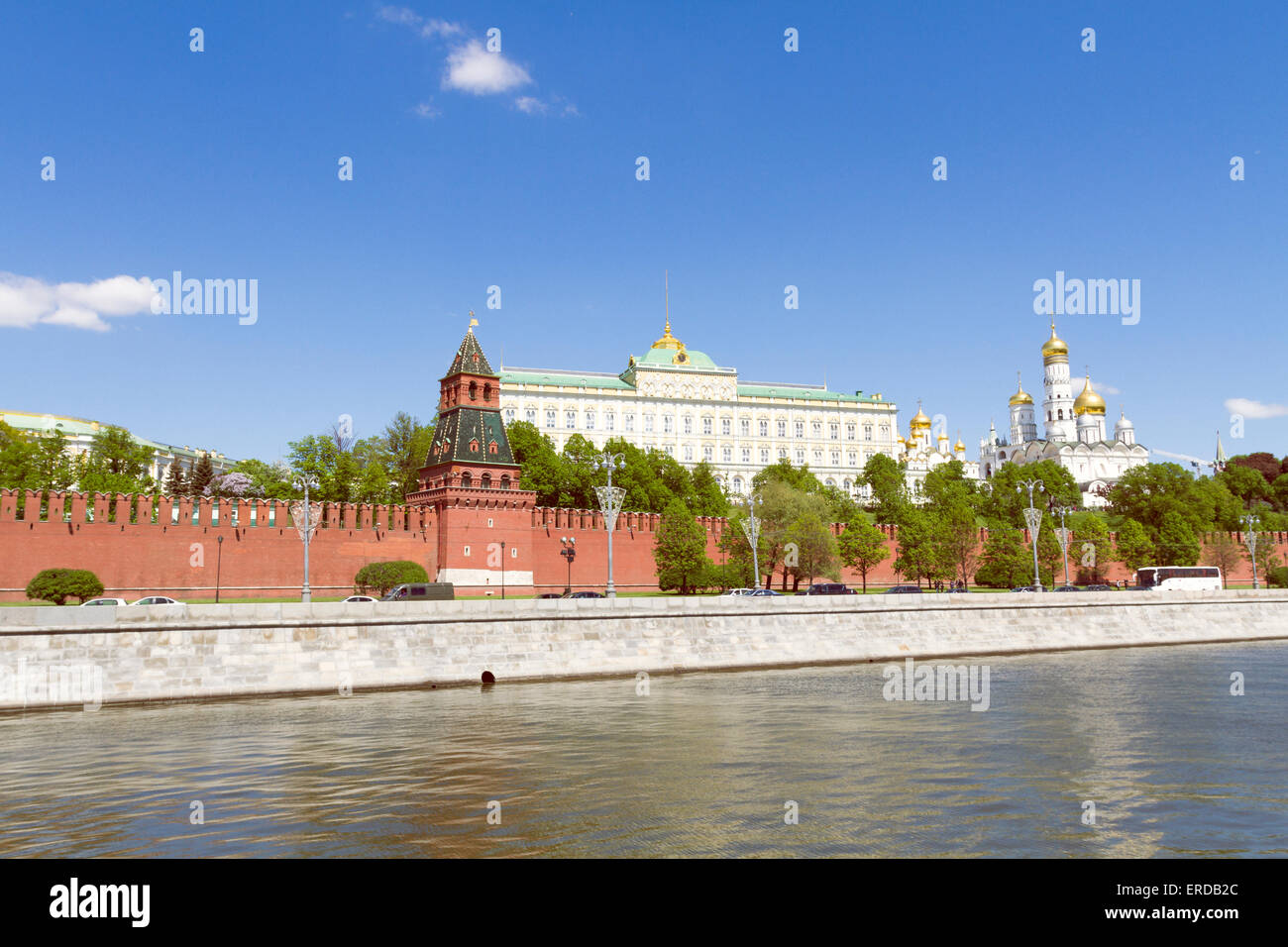 View of Moscow Kremlin - Stock Image